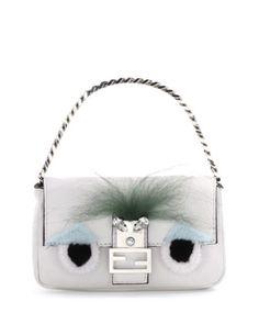 Micro Monster Shoulder Bag, White/Black by Fendi at Bergdorf Goodman.