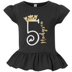 pick the age, 5 year old birthday shirts, girls birthday shirts, girl shirts