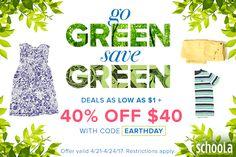 $1 #EarthDay Sale at Schoola