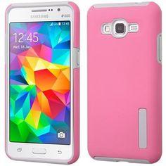 MYBAT Dual Pro Samsung Galaxy Grand Prime Case - Pink/Gray
