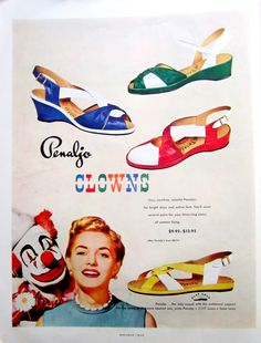 """You'll want several pairs for your three-ring circus...""  No!  Get that clown away from me!  (1952)"