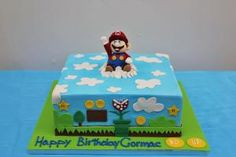 Mario World Birthday Cake