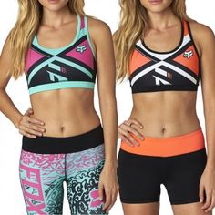 Fox Divizion Tech Womens Spandex Ladies Tops Work Out Sports Bra