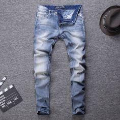 Men Jeans Streetwear Classical Jeans Visit: www.menpant.com/product/men-jeans-streetwear-classical-jeans/ 2020 Designer New Style Designer Men Jeans Fashion Streetwear Light Blue Color Slim Fit Buttons Classical Jeans Men Pants #menpants #mepant #men #pant #uk #usa #pants #mens