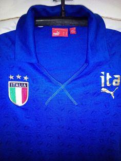 ITALY NATION  TEAM  PUMA  SOCCER JERSEY  TRIKOT GIRLS  M VTG #PUMA #Italy