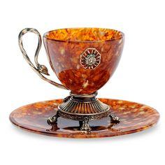 color tea sets | Amber Tea Set Caesar [002074] - $490.00 : Hermitage Museum Online Shop