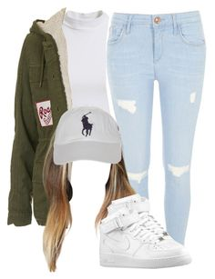 """""""Untitled #765"""" by janicegraziaa ❤ liked on Polyvore featuring Bardot, River Island, Topshop and Polo Ralph Lauren"""