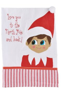 Glory Haus 'Love You to The North Pole and Back' Tea Towel available at #Nordstrom