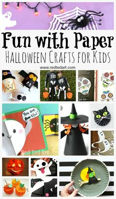 Paper Halloween Crafts - who knew Paper Crafts for Kids could be so much fun? Paper is incredibly versatile, cheap and above all FUN! Here are some of our favourite Paper Halloween Craft Ideas for Kids. Take peak today, as well as bookmark for later. Halloween Decorations To Make, Halloween Activities For Kids, Halloween Crafts For Kids, Holidays Halloween, Halloween Diy, Holiday Crafts, Kid Activities, Halloween Halloween, Holiday Ideas