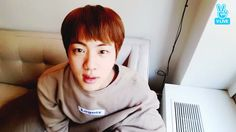 Jin live today. 23 03 2017 . He is a piece of art 💜💚💛💙