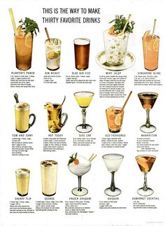 LIFE Magazine from 1946 - how to make 30 favorite classic cocktails!
