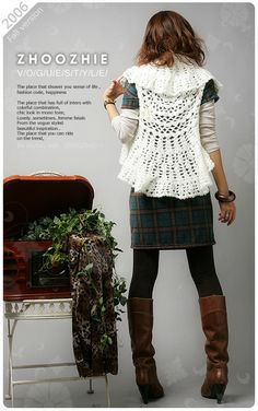 Crochet Jacket Free Pattern Via Garn Studio : 1000+ images about Capas circulares on Pinterest Crochet ...