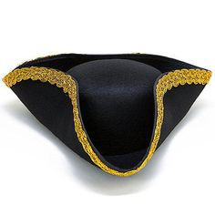 Pirate Hat Colonial Tricorn Revolutionary War Dress-up Costume Party Accessory