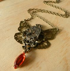 Image of Gorgeous Steampunk Butterfly Necklace Celebration Gif, Butterfly Necklace, Britney Spears, Steampunk, Necklaces, Pendant Necklace, Chain, Image, Jewelry