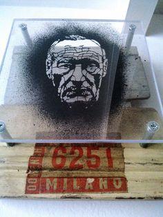 William Seward Burroughs stencil matrix 10x10 cm
