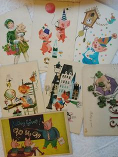 New Year Postcard, Vintage Postcards, Kids, Ebay, Vintage Travel Postcards, Young Children, Boys, New Year Card, Children