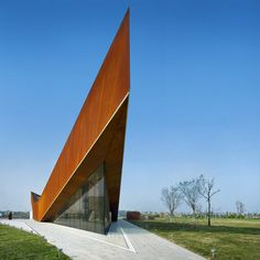 Here are some images of an extremely pointy pavilion in Tianjin, China, by Singapore studio Ministry of Design.