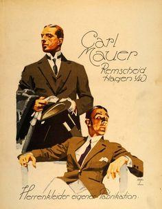 1926 Hohlwein Carl Mauer Men Fashion Poster - via periodpaper
