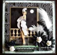 Art Deco Primadonna  Handmade card by Marie-Anne Stoltz