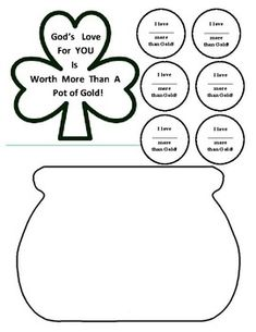 Trinity shamrock craft project for Children's Ministry