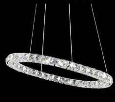 169.00$  Watch here - http://aliybf.worldwells.pw/go.php?t=32260777812 - Modern Lamp Single Ring LED Double Round Crystal Chandelier aslo for Wholesale Galaxy LED Ring 1pcs 169.00$