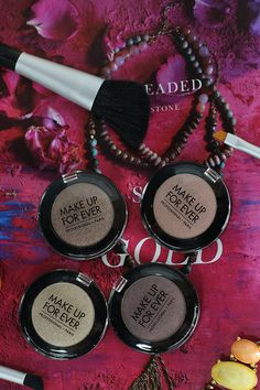 Make Up For Ever artist shadows in the diamond and iridescent finishes