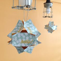 Don't throw out your old business cards: Use them to make paper lanterns!