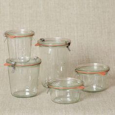 weck jars for organizing the pantry, so much prettier than messy boxes and air tight.