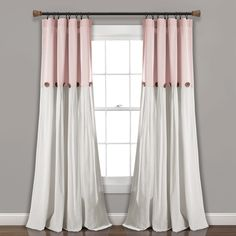 Shop for Lush Decor Linen Button Window Curtain Single Panel. Get free delivery On EVERYTHING* Overstock - Your Online Home Decor Outlet Store! Cool Curtains, Rod Pocket Curtains, Curtains For Sale, Hanging Curtains, Panel Curtains, Curtain Panels, Curtains Living, Picture Window Curtains, Blush Curtains