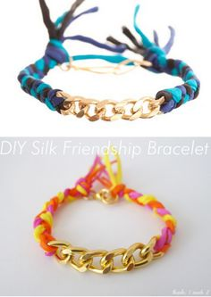 DIY Easy Ariel Gordon Inspired Silk Curb Friendship Bracelet Tutorial from Thanks, I Made It here. This is a really easy DIY with an easy to follow tutorial. You can usually find silk cording at your local craft or beading store. Top Photo: $107 Ariel Gordon Silk Curb Bracelet here, Bottom Photo: DIY by Thanks, I Made It.    Other links      DIY Frinedship Braclets: truebluemeandyou.tumblr.com/tagged/friendship    DIY Bracelets: truebluemeandyou.tumblr.com/tagged/bracelet ...