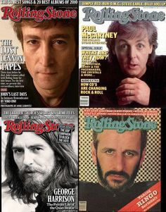The Beatles, on the cover of the Rolling Stone. Did you know you can get some of these at your local library? :D