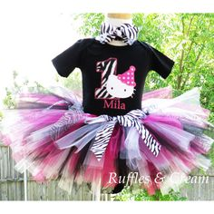 Hello Kitty Zebra Number Birthday Outfit