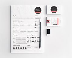 Business stationery and resume for my personal brand identity.
