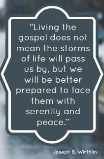 Living the gospel doesn't mean that we won't experience difficulty in this world, but it does give a sure foundation of solid rock as an eternal anchor to build upon, bringing light and peace in its wake, along with spiritual strength and hopeful assurance of better days ahead. http://pinterest.com/pin/24066179230935589 #MormonFavorites.com