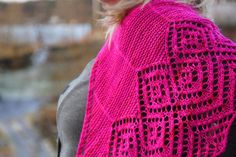 30 Diamonds Shawl by Maria Olsson  - cerise fuchsia pink!