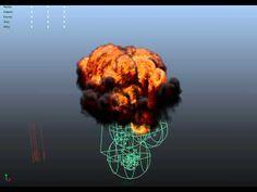 Maya Fluid - Fireball Explosion