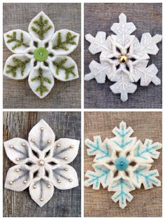 Nice snowflakes from felt