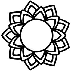 This design is intended to be cut with an electronic cutting machine. Stencil Patterns, Embroidery Patterns, Drawings To Trace, Stencils, Mindfulness Colouring, Beaded Flowers Patterns, Flower Tattoo Drawings, Cloud Drawing, Silhouette Design