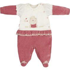 Macacão para Bebê Menina em Soft e Plush Rosa Antigo - Sonho Mágico :: 764 Kids   Roupa bebê e infantil