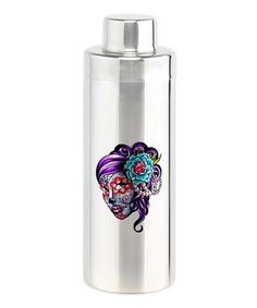 Another great find on #zulily! Stainless Steel Purple Sugar Skull Woman Cocktail Shaker #zulilyfinds