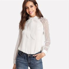 769de23368166a 8 Best T-shirts female images in 2018 | Blouse styles, Blouses, Full ...