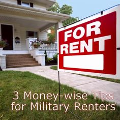 3 Money-wise Tips for Military Renters