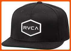 RVCA Young Men's Commonwealth Snapback Hat Hat, -black/White, EA - Fun stuff and gift ideas (*Amazon Partner-Link)