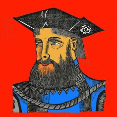 Nuno da Cunha, gouverneur de l'Inde Portugaise. 1666.in Ásia Portuguesa of Manuel de Faria e Sousa.Nuno da Cunha (c.1487-1539) was a governor of Portuguese possessions in India from 1528 to 1538. He was the son of Antónia Pais and Tristão da Cunha,the famous Portuguese navigator,admiral and ambassador to Pope Leo X. Nuno da Cunha proved his mettle in battles at Oja and Brava, and at the capture of Panane, under the viceroy Francisco de Almeida.