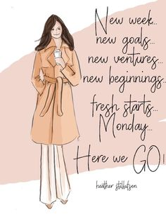 New week new month new beginnings. New Week Quotes, Monday Quotes, Monday Humor, New Week New Goals, Positive Quotes For Women, Positive Phrases, Positive Thoughts, Positive Vibes, Girly Quotes