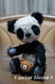 oso panda peludo amigurumi pagina japonesa