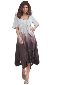 80be89ddccd Denim 24 7 Plus Size Ombre Ripple Dress  29.99 Stylish Plus