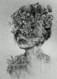love drawing art girl Black and White life hippie hipster vintage follow back indie Grunge creative flowers peace bohemian floral
