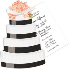Tiered Wedding Cake Die-cut Invitations