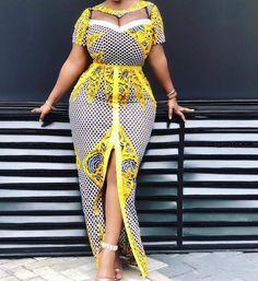 Elegant African Women Fabrics Dress